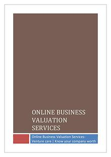 Online Business Valuation Services-Venture care | Know your company w