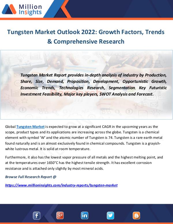 Industry And News Tungsten Market Joomag Newsstand