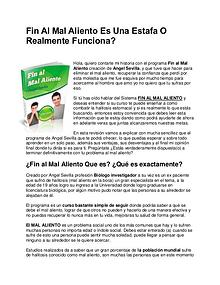 Fin Al Mal Aliento de Angel Sevilla PDF