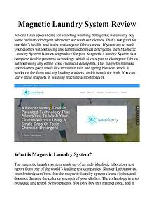 Magnetic Laundry System Reviews : Canada, UK, Video Free Trial