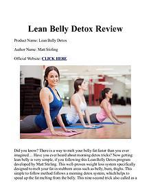 Matt Stirling's Lean Belly Detox PDF / eBook Free Download