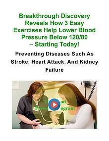Blood Pressure Exercise Program PDF / eBook Free Download