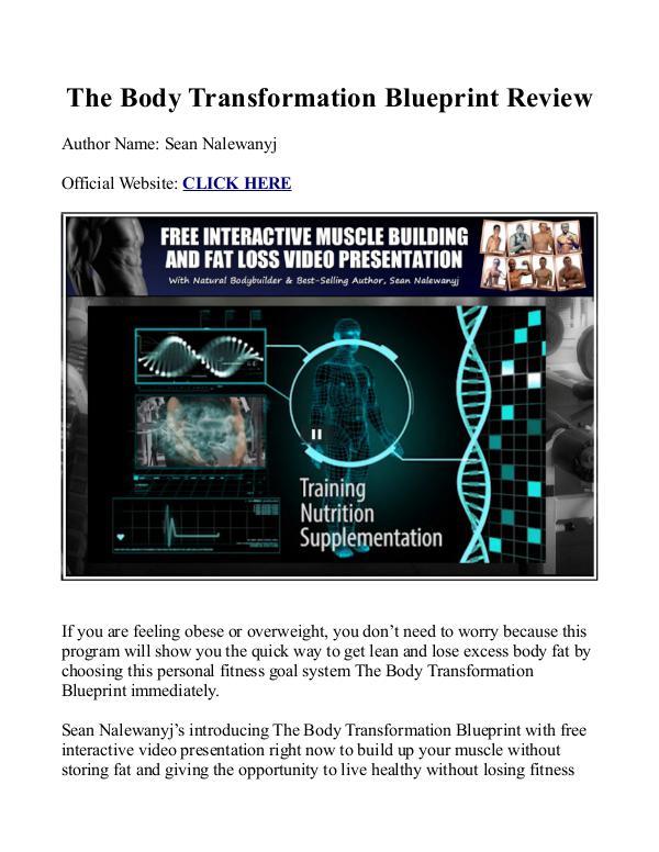 The body transformation blueprint pdf workout book free download the body transformation blueprint pdf workout book free download sean nalewanyj malvernweather Images
