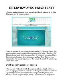 La Diete 2 Semaines PDF / Avis Gratuit Brian Flatt Livre Telecharger
