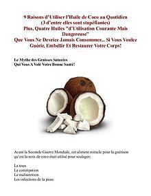 Le Secret De l'Huile De Coco PDF / Guide Livre Gratuit Telecharger
