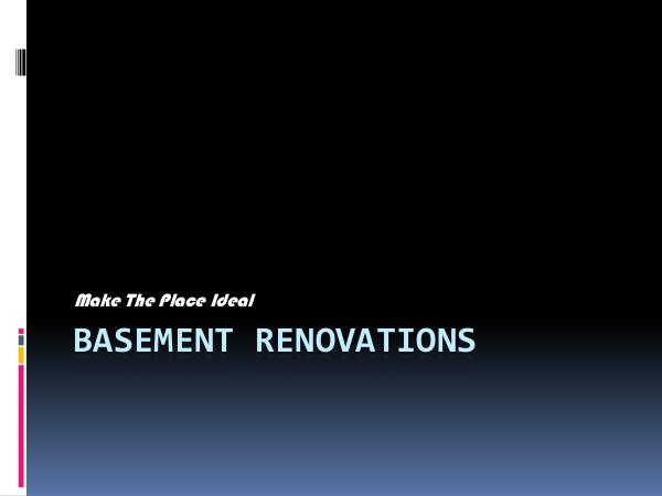 The Basement Finishing Company Basement Renovations - Make The Place Ideal