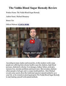 Vedda Blood Sugar Remedy PDF / Book Recipe Free Download