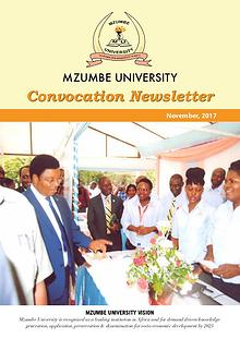 Mzumbe University - 2017 Convocation Newsletter