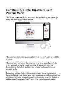 Mental Impotence Healer MP3 / Program Free Download