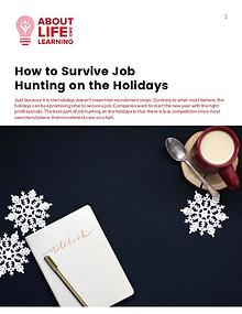 How to Survive Job Hunting on the Holidays