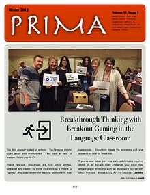 PRIMA, the newsletter of Excellence Through Classics