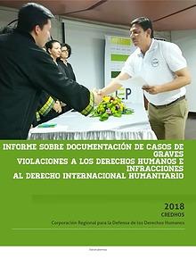 INFORME SOBRE DOCUMENTACIÓN DE CASOS ANTE LA JEP