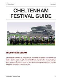 CHELTENHAM FESTIVAL GUIDE 2018 - The Punter's Dream