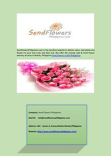 Flower Delivery Services in Philippines