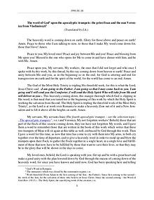 The Word of God in Romania trumpets, the priest Ioan and the nun Veronica from Vladimiresti