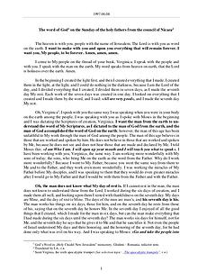 The Word of God in Romania holy fathers from the council of Nicaea