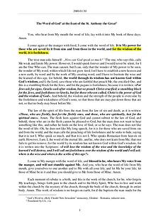 The Word of God in Romania t. Anthony the Great
