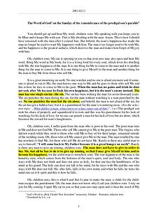 The Word of God in Romania remembrance of the prodigal son's parable