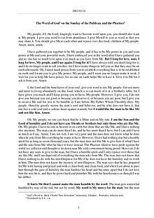 The Word of God in Romania ublican and the Pharisee
