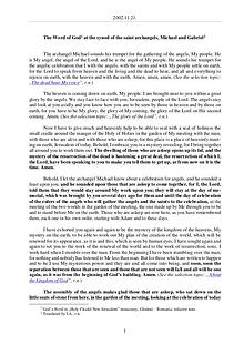 The Word of God in Romania aint archangels, Michael and Gabriel