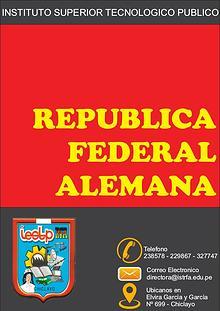 """REVISTA INSTITUCIONAL """"REPUBLICA FEDERAL ALEMANA"""""""