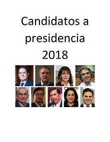 candidatos a presidente 2018