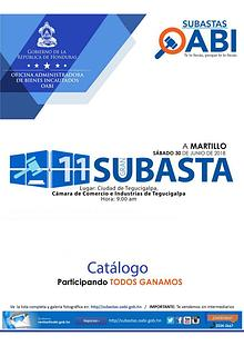 CATALOGO GRAN SUBASTA 11 A MARTILLO
