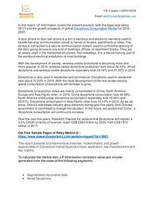 Doorphone Consumption- Research Reports Inc