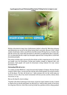 Terrific Benefits of Dissertation Writing Service Reviews
