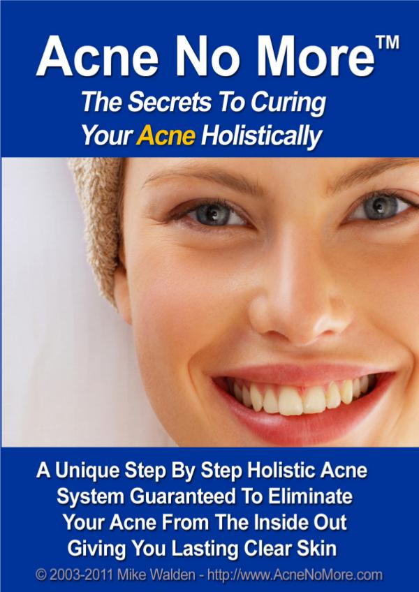 Acne No More PDF, eBook Mike Walden Free Download Acne No More Book